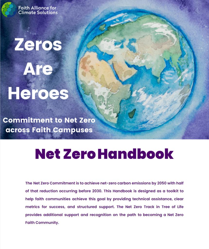 first page of the Net Zero handbook